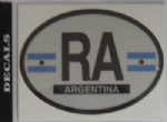 Argentina Country Flag Oval Decal.